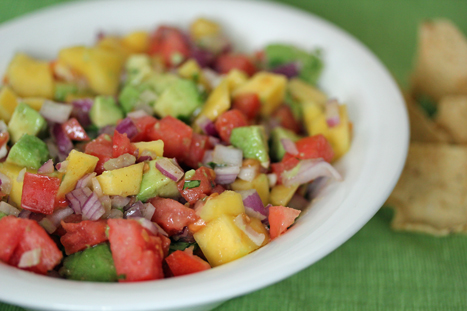 mango avocado salsa Mango Avocado Salsa with Sweet Lime Vinaigrette, plus Healthy Super Bowl Snacks   New on SCJohnson.com