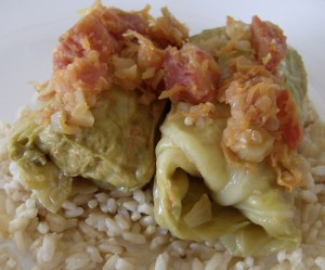 HPIM8275 640x533 300x249 Aleas Cabbage Rolls with Turkey and Brown Rice