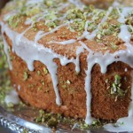 Angel Food Cake with Lime Glaze and Pistachios – February's Dessert of the Month