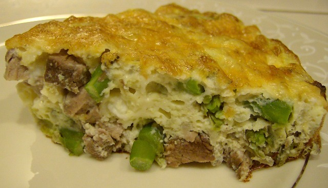 Steak and Asparagus Frittata