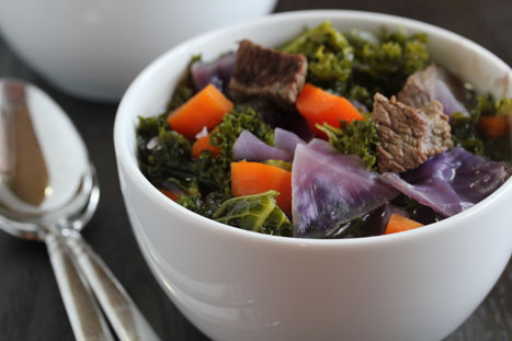 beef cabbage and kale stew 8 Beef, Red Cabbage and Kale Stew
