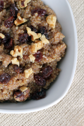 cinnamon quinoa Cinnamon Walnut Quinoa with Raisins   Breakfast Week