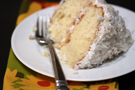 coconut cake Fluffy Coconut Cake with Toasted Coconut Frosting   Marchs Dessert of the Month