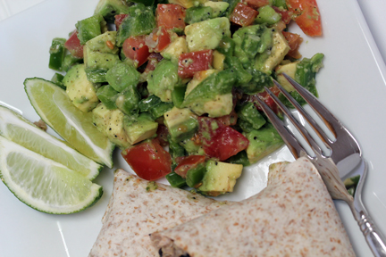 guaca de gallo Quinoa and Black Bean Burritos with Guac De Gallo   $5 Dinner Challenge
