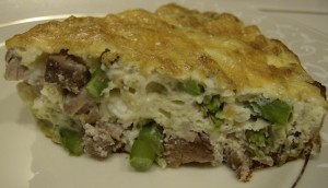 slice of frittata 640x367 300x172 Aleas Steak and Asparagus Frittata   Breakfast for Dinner!