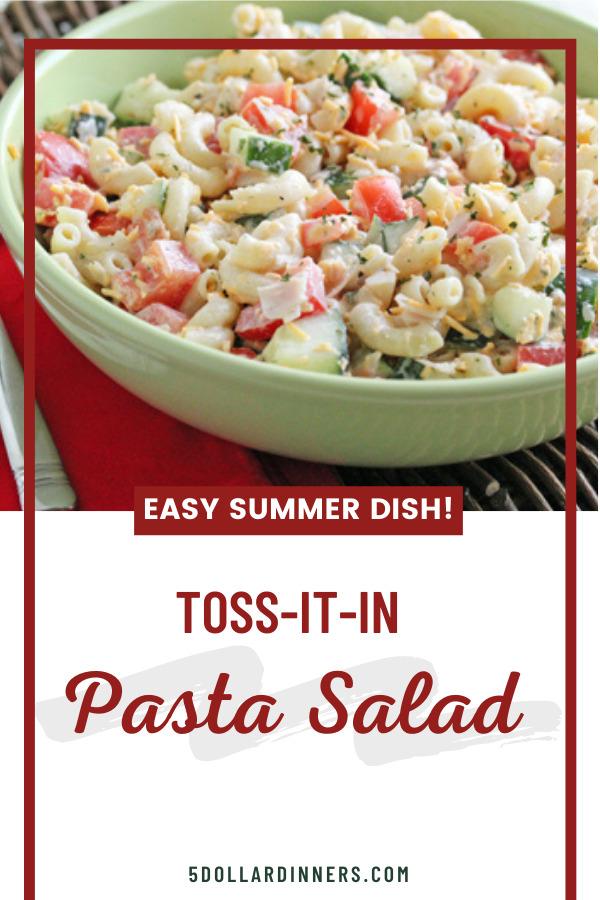 toss it in pasta salad