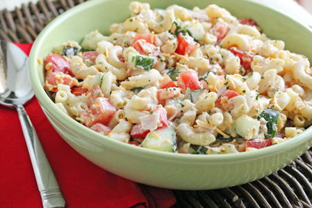 toss it all in pasta salad