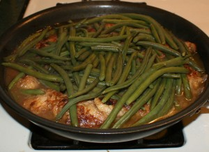 chicken skillet2 300x218 Denises Easy One Skillet Chicken Dinner