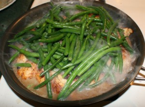chicken skillet4 300x221 Denises Easy One Skillet Chicken Dinner
