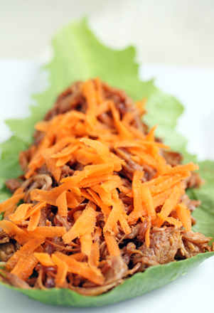 pulled pork lettuce wraps Sesame Pulled Pork Lettuce Wraps