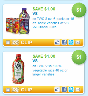 v8 printable coupons New V 8 Vegetable Juice Coupons