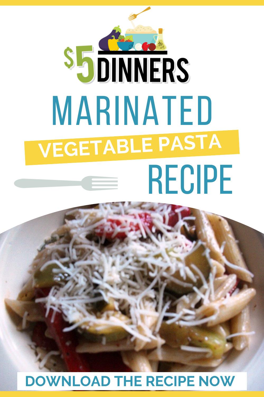 marinated vegetable pasta