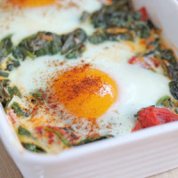 baked egg with spinach 8