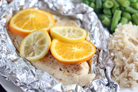 grilled citrus tilapia3 Grilled Citrus Tilapia Packets   $5 Dinner Challenge
