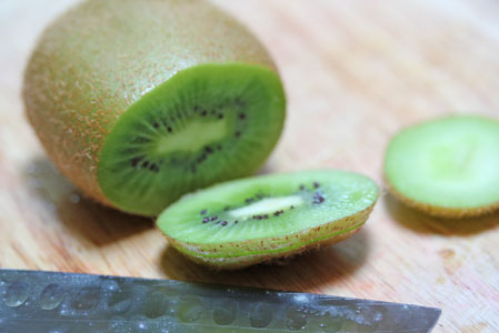 how to cut a kiwi 6 How to Cut a Kiwi   Kitchen Tip