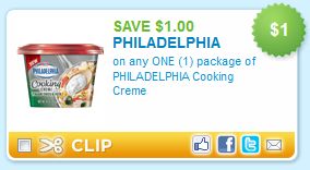 philadelphia cooking creme coupon Printable Coupons: Philadelphia Cooking Creme, Olive Oil, Pasta, Cereal and More