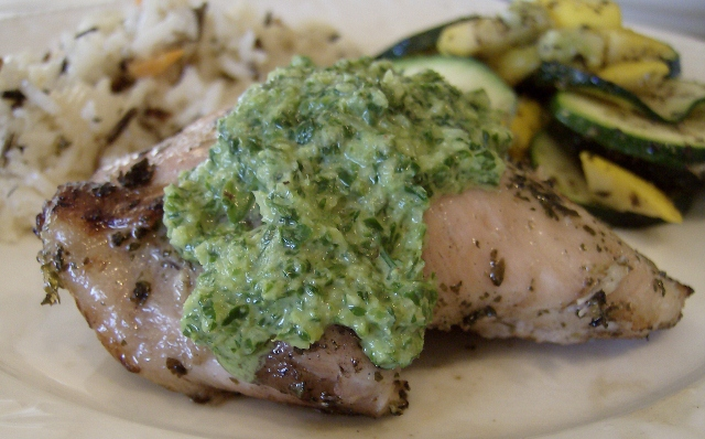 Cilantro - Lime Chicken with Chimichurri Sauce | 5DollarDinners.com