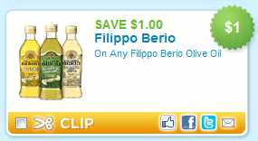 Filippo Berio Coupon $1/1 Filippo Berio Olive Oil Coupon