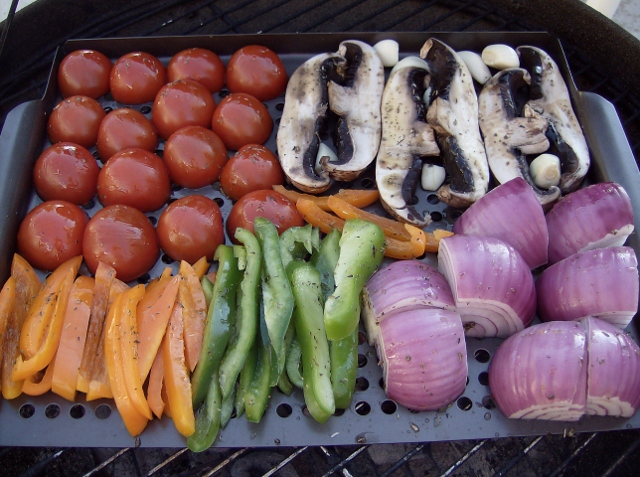 Grilling Veggies to make Ratatouille 640x477 Aleas Grilled Ratatouille