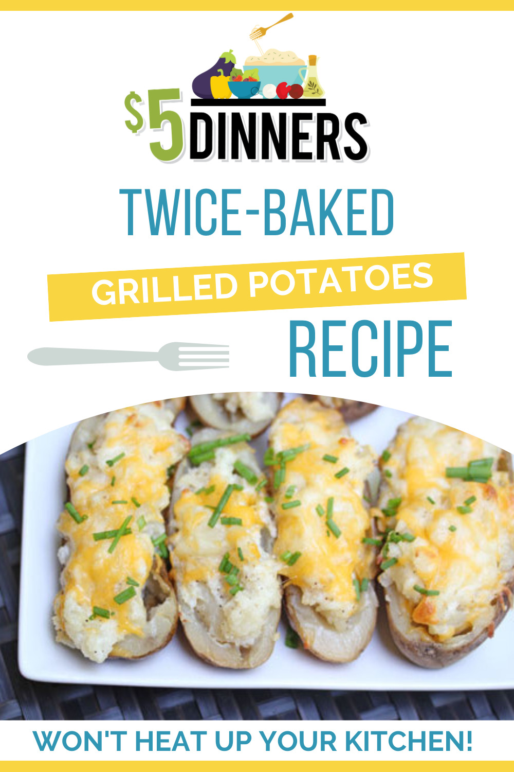 twice baked grilled potatoes