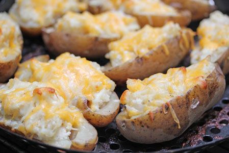 twice-baked grilled potatoes