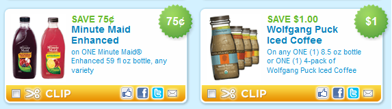 minute maid and wolfgang puck beverage coupons Printable Coupons: Back to Nature, Burlesons, Gerber, Hefty and More