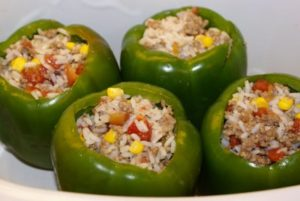 stuffed green peppers 300x201 Weekly Meal Plan with Printable Grocery List   July 5th