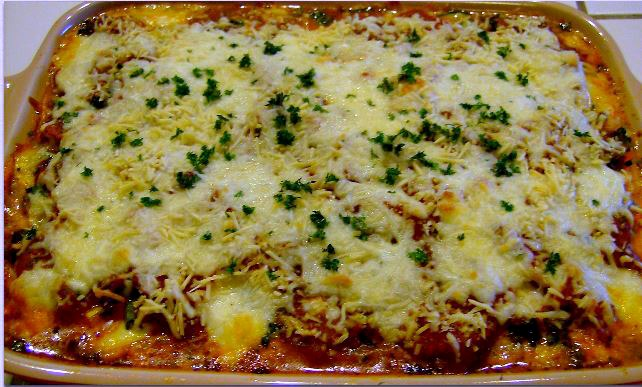 Vegetable Lasagna with Spinach Noodles | 5DollarDinners.com
