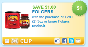 folgers coupon $1/2 Folgers Coupon