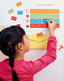 magnetic lunch chart Magnetic Lunch Charts