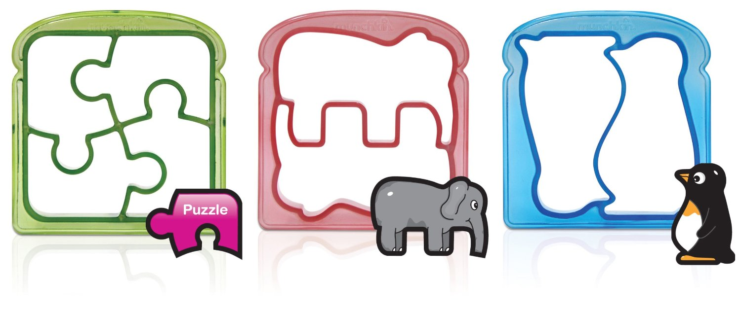 puzzle sandwich cutters three piece set