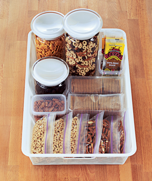 snack container dryfoods 300 Grab n Go Snack Stations from Real Simple