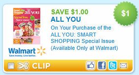 All You Magazine Coupon $1/1 All You Smart Spending, Special Edition   Printable Coupon