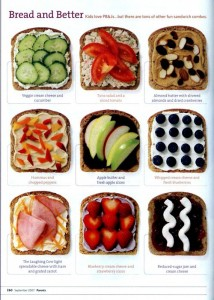 lunch 214x300 Sandwich Ideas  Lunchbox Inspiration