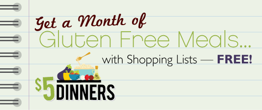 facebooktab glutenfree Gluten Free Meal Plan and Shopping List   Free Printables