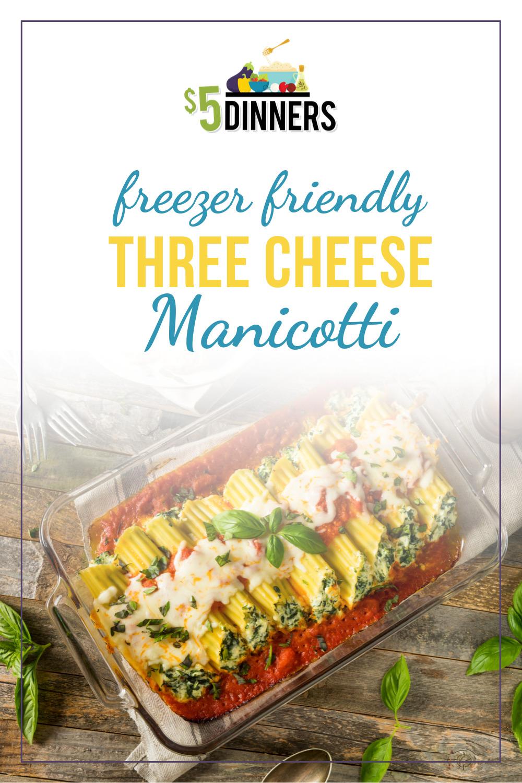three cheese manicotti