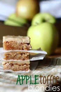 appletoffeeblondies 200x300 Apple Toffee Blondies  Sweet Fall Treat