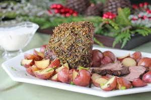 chive crusted beef roast 300x199 Final Round   Taste Test, Breakstone's Battle of the Kitchen Bloggers