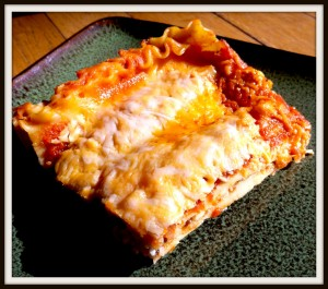 lasagna 300x265 Angies Almost Pay Day Lasagna