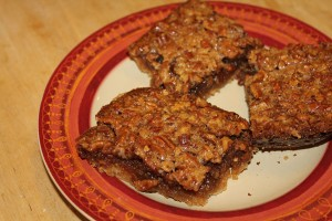 pecanbars 300x200 Denises Pecan Pie Bars