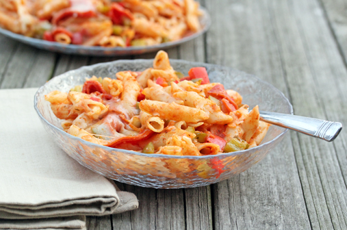 pizza penne bake Weekly Meal Plan with Printable Grocery List   3/5