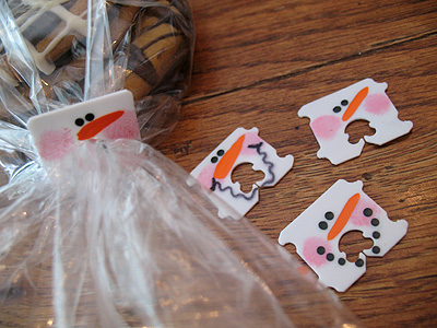 snowman bread tabs Snowman Bread Tabs for Packaging Edible Holiday Gifts