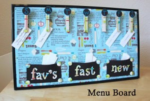 Menu Board 300x202 Kitchen Command Center  Kitchen Inspiration