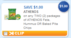 athenos printable coupon Athenos Feta, Hummus, or Baked Pita Chips + More Printable Coupons
