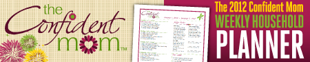 newsletter ad confident mom Weekly Meal Plan with Printable Grocery List   3/5