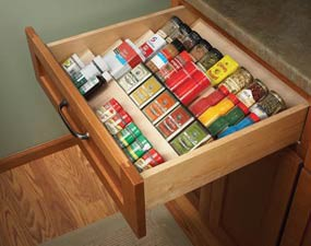 spices Spice Drawer  Kitchen Inspiration
