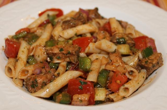 Fiesta Steak and Pasta Salad
