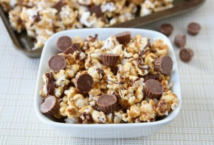 reeses 300x203 Reeses Peanut Butter Popcorn  Sweet Winter Treat