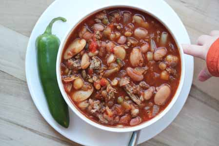 spicy 15 bean chili 1 Spicy 15 Bean Chili   Hurst Beans