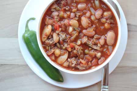 spicy 15 bean chili 2 Spicy 15 Bean Chili   Hurst Beans